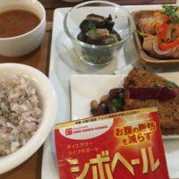 1027-メカジキカツ、十五穀米、スープ